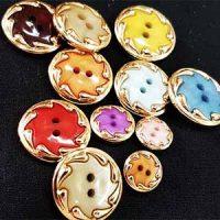 כפתורים משולבים זהב